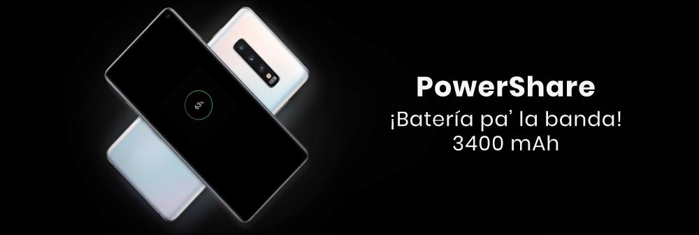 El Samsung Galaxy cuenta con PowerShare, con la que tendrás la capacidad de compartir energía con otros dispositivos