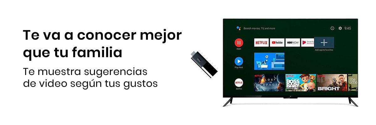 Con la Xiaomi Mi TV Stick vas a poder convertir tus dispositivos en smart TV, lo mejor es que el futuro llega a tus manos (literalmente) pues cuenta con Chromecast y búsqueda por voz