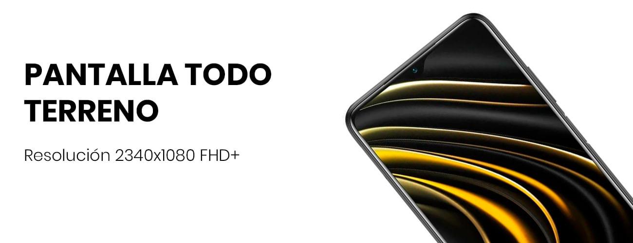 El Xiaomi Pocophone M3 tiene una pantalla con una resolución de 2340x1080 FHD+