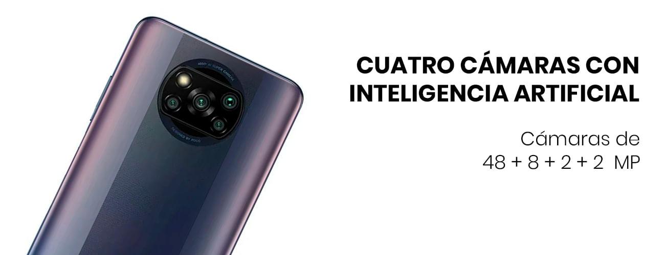 El Poco X3 Pro integra cuatro cámaras de 48 + 8 + 2 + 2