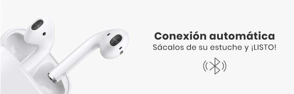Los Apple AirPods 2 tendrás que sacarlos de tu estuche y de inmediato podrás conectarlos a cualquier iPhone (5 SE o superiores), incluso a tu Apple Watch