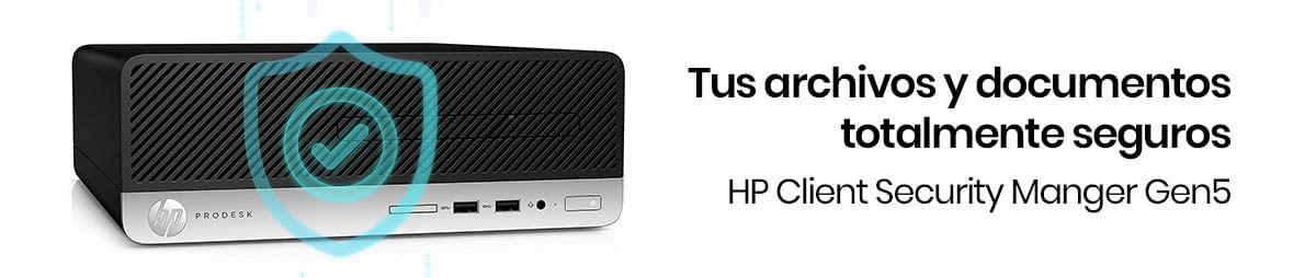 El HP ProDesk 400 G6 SFF va a recibir de manera automática actualizaciones de HP BIOSphere Gen5 y siempre tendrá protección con HP Sure Click