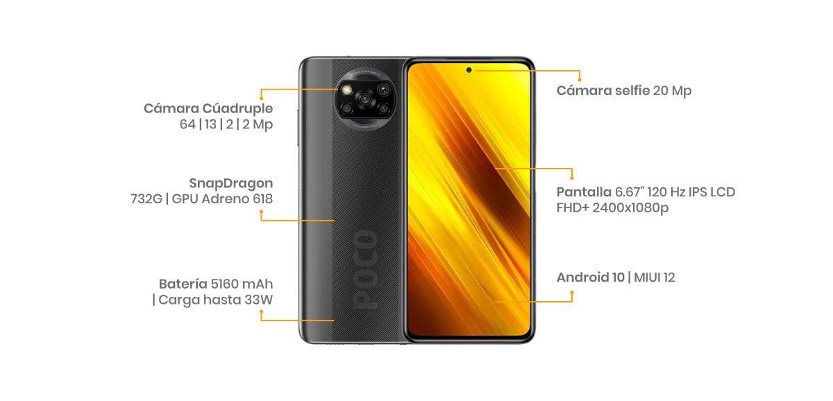Xiaomi Pocophone X3 características, especificaciónes, specs