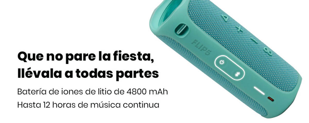JBL Flip 5 SINCRONIZA MÁS DE DOS FLIP 5 con PartyBoost