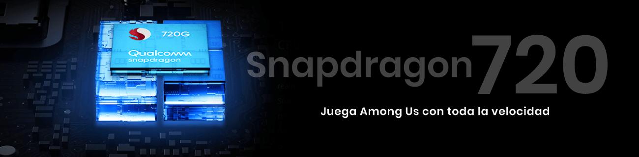 El Realme 7 Pro viene con un  procesador Snapdragon 720 y a su potente RAM puedes estar seguro de que no te va a dejar a la mitad