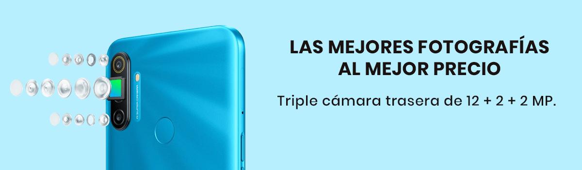 El Realme 6 cuenta con cuatro cámaras lideradas por un sensor de 64MP apertura de f/1.8