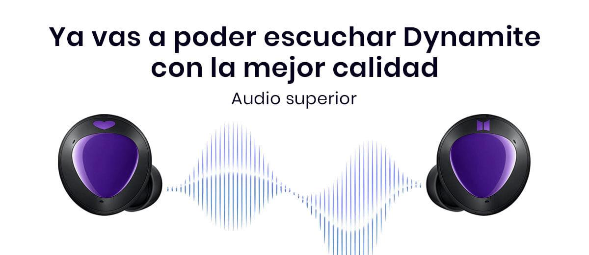 Los Samsung Galaxy Buds+ BTS Edition van a mejorar tu experiencia auditiva, ya que vas a notar todos los detalles de tus rolitas y vídeos favoritos con un audio nítidos y equilibrado gracias a AKG