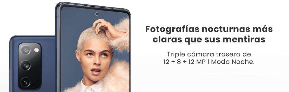 Samsung Galaxy S20 FE triple cámara trasera de 12 + 8 + 12 megapíxeles