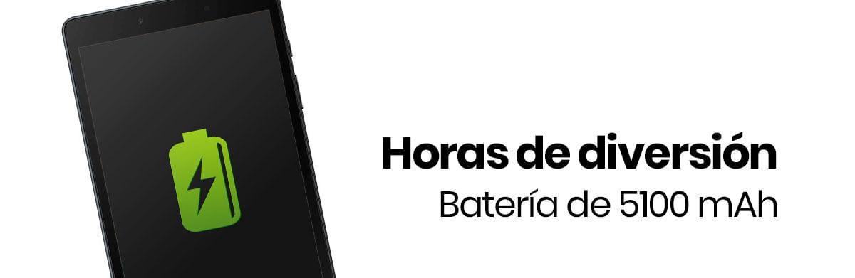 La Tableta Samsung Galaxy Tab A 8 5100 mAh para un uso rudo, así podrás pasar horas reproduciendo seríes