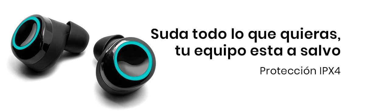Los Audífonos Vorago Premium ESB-600 Touch  gracias a su excelente calidad puedes estar tranquilo que el sudor o el agua no les harán nada, pues cuenta con protección IPX4