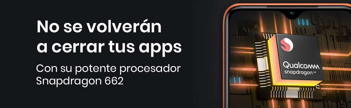 El Xiaomi Redmi 9T viene con un Snapdragon 662, con el vas a poder trabajar sin problemas corriendo aplicaciones casuales