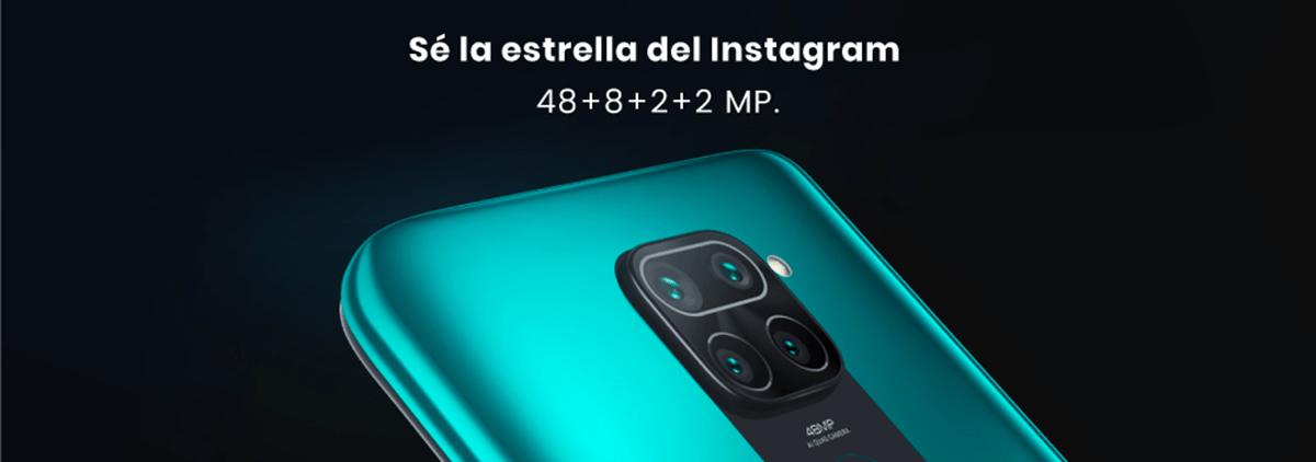 Xiaomi Redmi Note 9 cuatro cámaras de 48 + 8 + 2 + 2 MP y en el sensor de selfie tenemos 13 megapíxeles