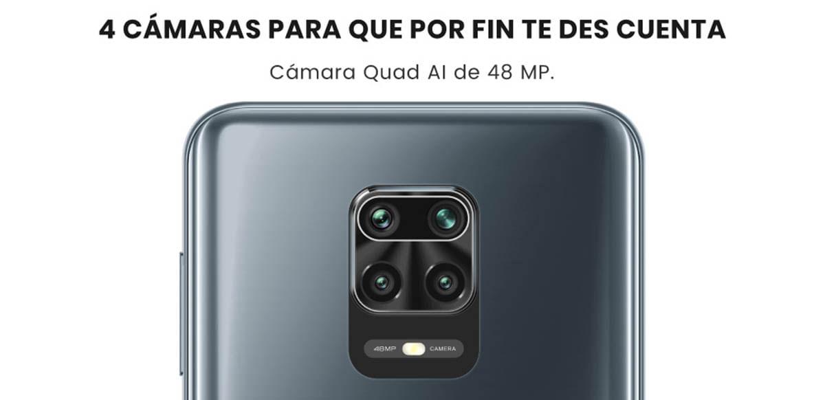 Con el Xiaomi Redmi Note 9S  podrás tener una cámara común, un lente macro, un súper gran angular y un bokeh